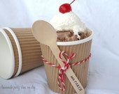 50LaRGe KRaFT PaPeR ICE CREAM CUPS16oz with DiY Printable Labels-Party Favors-Popcorn-Crafts-Ice Cream-Showers-Weddings- - pinklemonadeparty