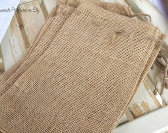 the BiG BURLAP BAG- --- Favors/Gifts-Add your own decorations--set of 10