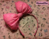 Starry Pink Big Bow (Head Band)