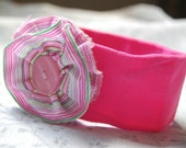 SALE: pink flower headband for baby
