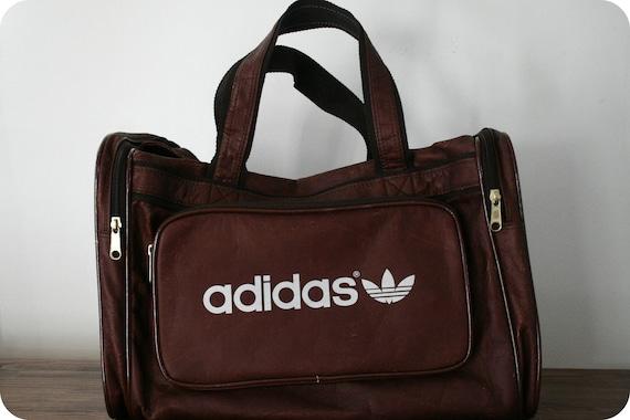 Vintage Adidas Brown Leather Bag
