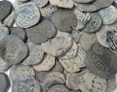 5 Coins Rare Authentic Ancient Treasure Pirate Times XVII century Spain