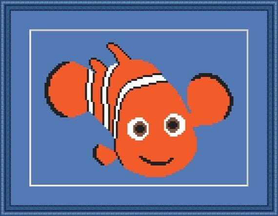 Clown Fish Baby Blanket Pattern - Crochet - PDF