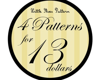 Great Deal - Buy 4 PDF Baby Shoes Pattens for 13 Dollars