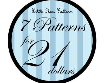 Great Deal - Buy 7 PDF Baby Shoes Pattens for 21 Dollars