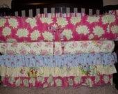 "Custom Crib Bedding using Heather Bailey's ""Pop Garden"""