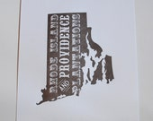 Rhode Island and Providence Plantations in Brown
