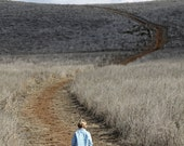 Boy Walking in Field Photography Print 8x10