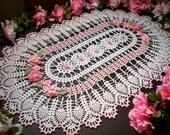 new hand crochet table runner