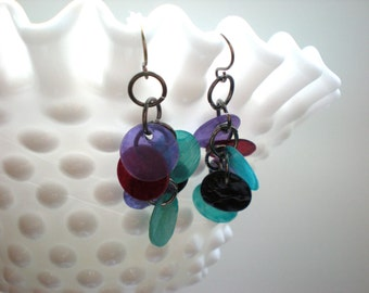 Colorful Shell Earrings / Handmade Jewelry / Multi-Color