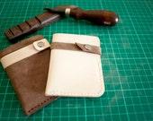 Leather Card Holder / money holder / wallet / namecard holder - Free monogramming