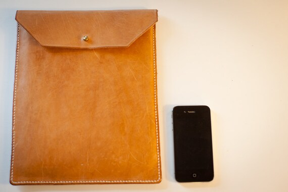Leather iPad Sleeve / Case - Vintage Vegetable Tanned Leather - Free Personalization
