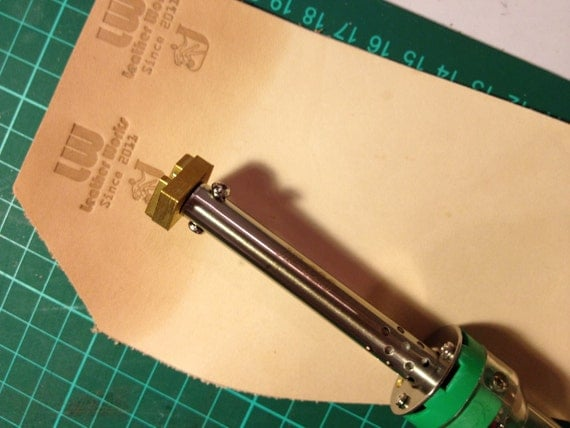 Custom Leather Stamp with Heat Embosser for Embossing / Stamping Leather