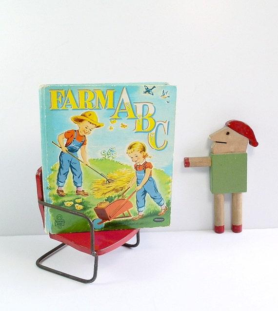 Farm ABCs Alphabet Illustrations Vintage Children's Book