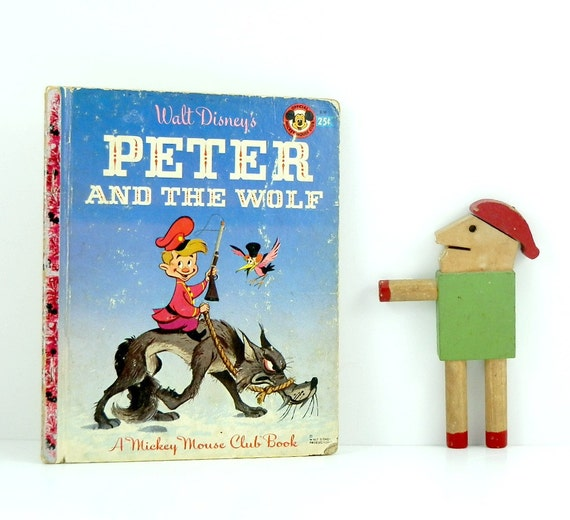 Peter and the Wolf Vintage Little Golden Book