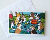 Corgi Birthday Card / Invitation