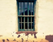 California Photography - San Diego, California, Window, Old Town, Vintage, Frame, Worn, Wall, Neutral, Beige, Tan, Brown, Emerald Green