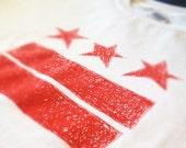 Men's Red on White Washington D.C. Flag Scribble