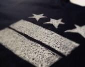 Unisex Black Anvil DC FLAG SCRIBBLED T-shirt
