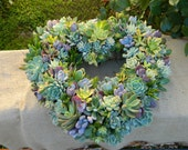 Succulent Wreath, Heart Shaped Succulent Wreath, Sympathy Gift, Housewarming Gift, Wedding Table, Housewarming Gift