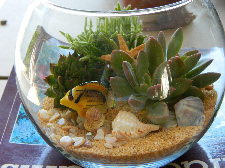 Succulent terrarium tabletop wedding centerpiece