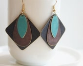 Square Patina Earrings