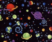OUTER SPACE  cotton fabric (110x90cm)