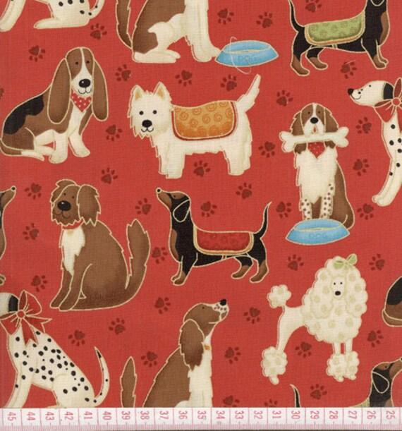 DOGS cotton fabric (110x90cm)