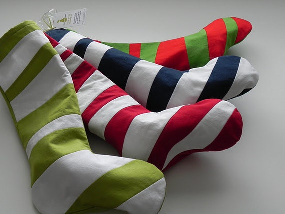 CUSTOM for LAUREL: 4 Christmas Stockings - Four SEUSS Stockings - Set of Four Stockings Inspired by Dr Seuss - One of Each Color Combination