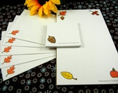 Clearance--Autumn Decor, Stationery Set, Notepads and Envelopes