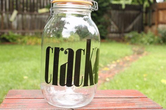 Vintage Crackers jar, glass storage