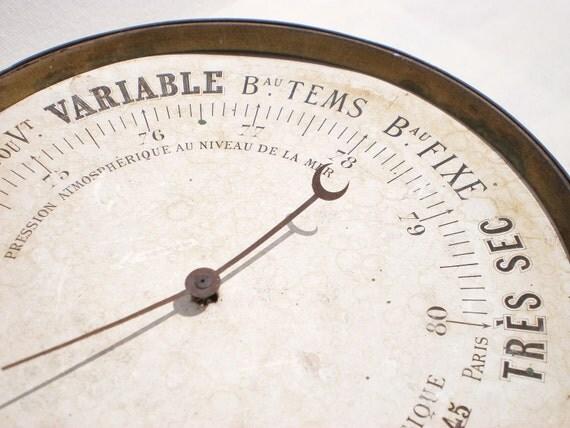 French Vintage Barometer