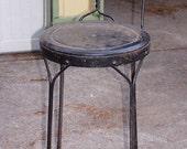 Antique ice cream parlor bar stool