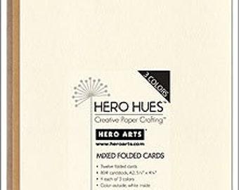 Hero Arts Cards Earth- Latte, Eggshell, Mocha