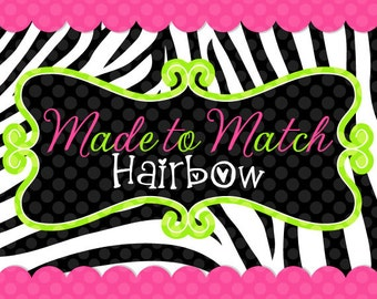 Made to Match Hairbow