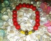 Big Fren II bracelet  (Red wood and rasta color bracelet)