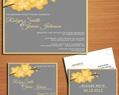 Orchid Branch Modern Wedding Collection / Invitation / RSVP / Save the Date Postcard PRINTABLE / DIY