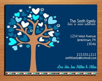 Moving Announcement / Love Tree / Customized Printable DIY