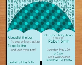 Frogs and Snails / What Little Boys Are Made Of /  Baby Shower Invitation Cards / PRINTABLE / DIY
