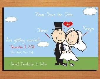 Getaway Car Wedding Save the Date PRINTABLE / DIY