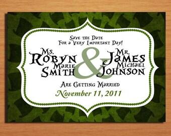 Mad Hatter / Alice in Wonderland Modern Wedding Save the Date PRINTABLE / DIY
