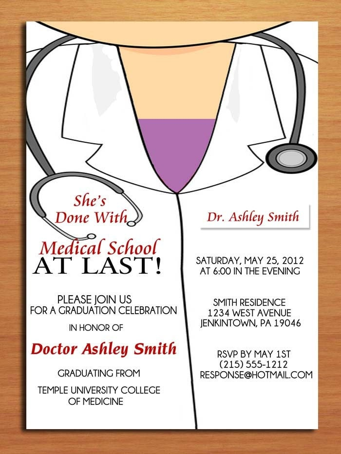 Medical School Graduation Invitations is an amazing ideas you had to choose for invitation design