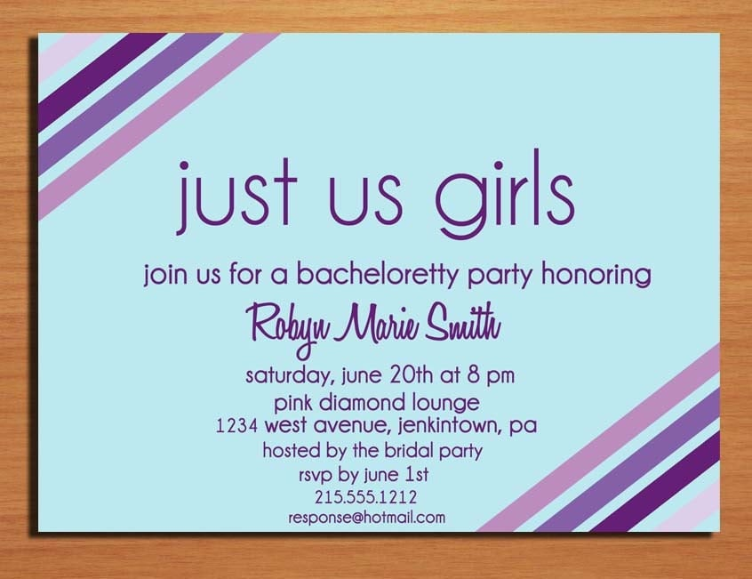 Diy Bachelorette Party Invitation Templates Invitations