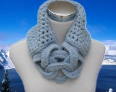 Crocheted Cowl in Light Blue
