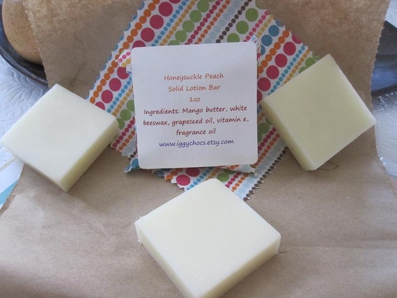 Solid Lotion Bar- Honeysuckle Peach