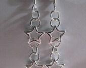 Open Star Earrings - Sterling Silver