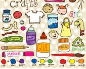 Kiddy Crafts Vector Graphics Set for Personal and Commercial Use