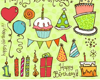 Happy Birthday Vector Graphics Set for Personal and Commercial Use