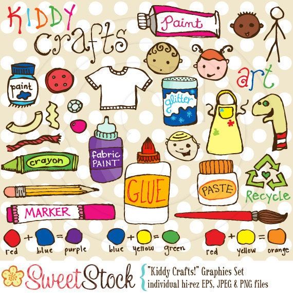 Items Similar To Kiddy Crafts Vector Graphics Set For Personal And Commercial Use On Etsy