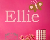 Personalized name with butterfly